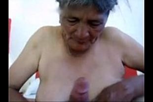 Amateur video with a horny granny