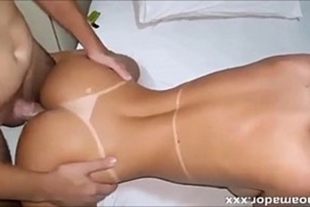 Beautiful in very painful anal sex