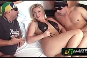 Brazilian Threesome With Very Hot Blonde