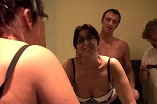 Cuckold watching his wife give ass to his friend