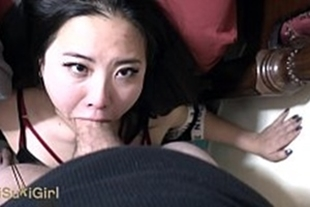 Cumming in the mouth of the wonderful Japanese