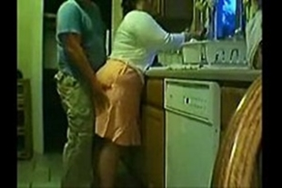Fat sex videos in the kitchen at home