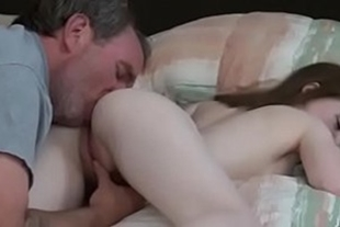 Father fucking his own daughter who moans hot all excited