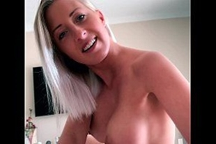 Getting his dick into a busty blonde
