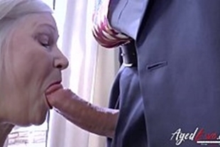 Grandma having sex with a gifted crown