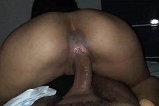 Hot aunty wiggling over the cock