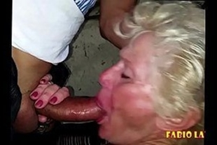 Hot blowjob with old homemade porn