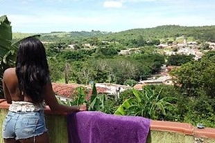 Hot little black girl fucking on the balcony for everyone to see www xnxx em