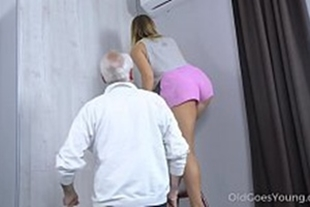 Incest uncle and niece having sex at her house