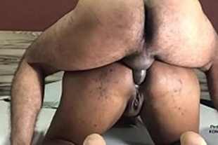 Lucky guy fucking a mulatto who likes it in the ass