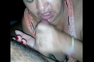 Mother in law doing nice blowjob on my dick