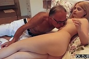 Old sex brand new blonde babe