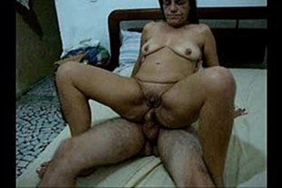 Old woman giving ass to her husband