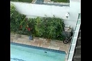 Painter caught sex in pool where he worked