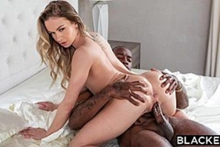Perfect woman in intense sex with a big black man
