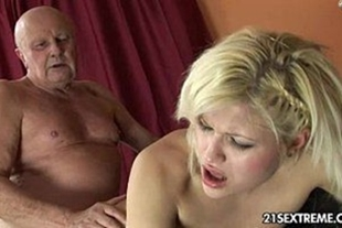 Porn video naughty old man fucking a hot blonde
