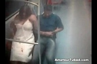 Porn video train with couple fucking hot