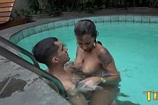 Porn with people having sex in the pool