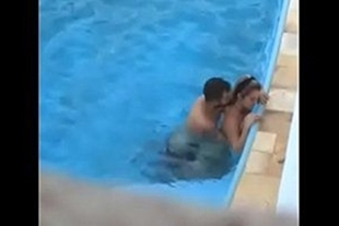 Real sex in swimming pools