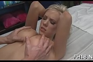 Russian porn video of a masseuse getting his dick poked by a hot client