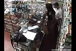 Sex at the pharmacy between two employees