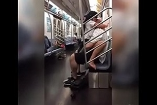 Sex in the subway with girlfriend lit