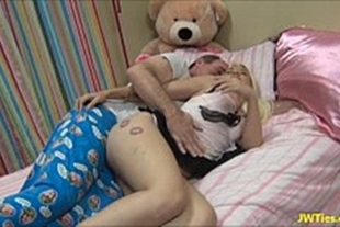 Sex video with very naughty granddaughter