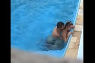 Sex videos in the hotel's public pool