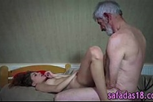 Sex videos with the horny grandfather who really likes a nymphet