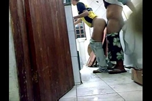 Sex with young maid while wife works