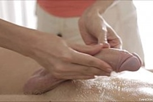Sexy massage done by a cute babe