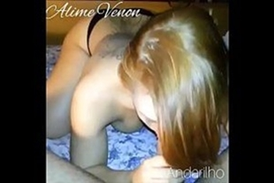 Slut aline redhead sucking cock and giving pussy