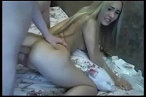Teen Blonde Giving Her Ass And Making A Bitch