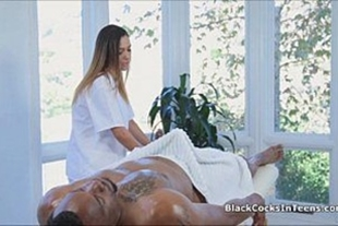 Teen whore masseuse giving to black dude