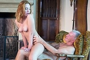 The old man fucking the younger son's new girlfriend
