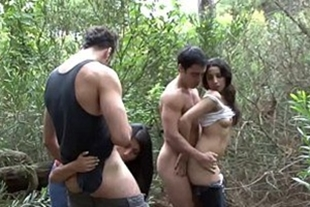 Two couples fucking in the woods porono sabar
