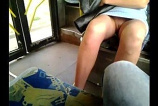 Very hot woman without panties in the metro