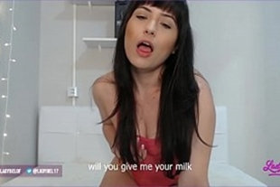 Video with photo of naked brunette in bed