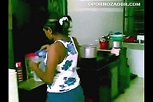 fucking the maid forcibly in the kitchen